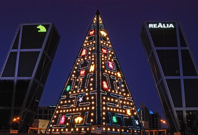 Arbol Navidad Pacman