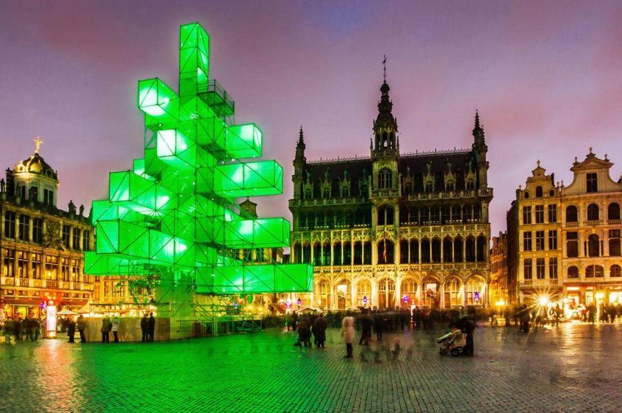 Arbol Navidad abstracto Bruselas