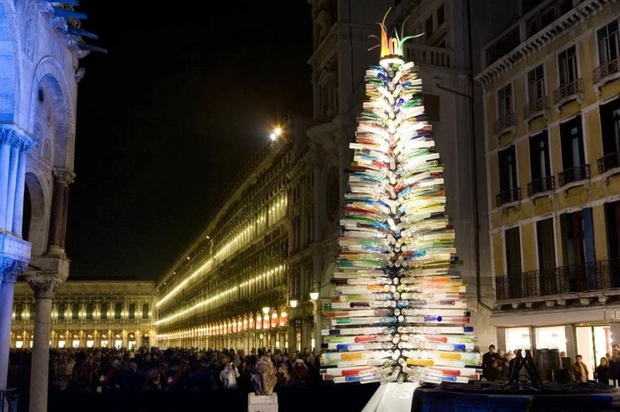 Arbol de Navidad de cristal de Murano