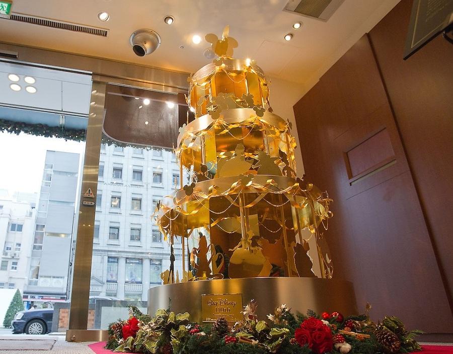Arbol de Navidad de oro