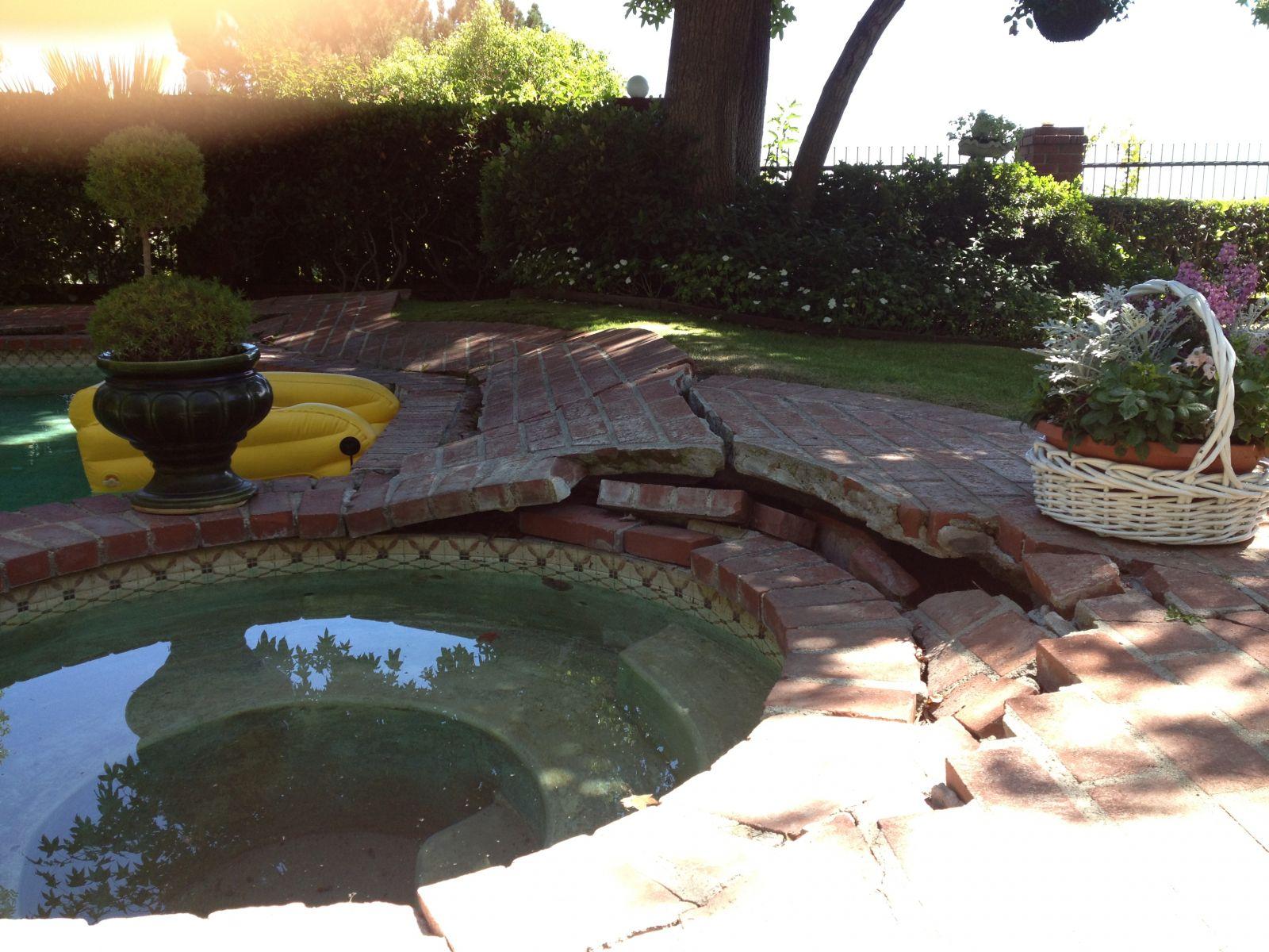 Grieta por raices en piscina